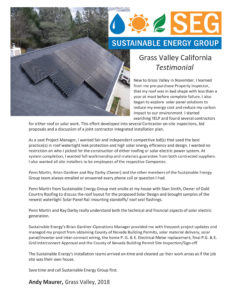 grass valley residential solar