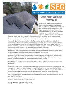 grass valley residential solar