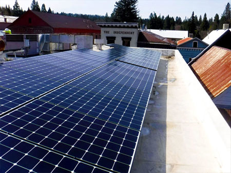 commercial solar installer based in grass valley and nevada county installation