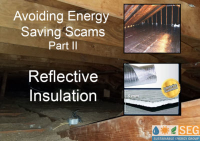 home energy scams reflective insulation
