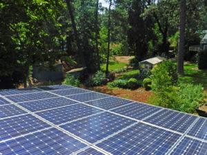 Rooftop solar installation.