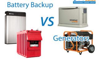 battery backup versus generator california