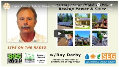 Ray Darby Sustainable Energy Group Solar Founder Grass Valley CA