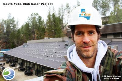 Sustainable Energy Group Team at South Yuba Club Solar