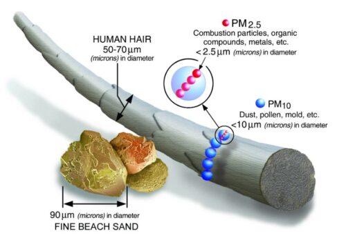 PM 2.5 particle size