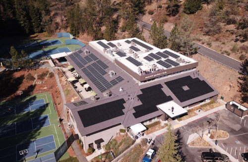 south yuba club solar project grass valley calfornia commercial project