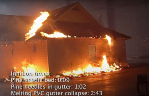 burn test on a house