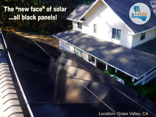 black solar panels nevada county grass valley auburn california