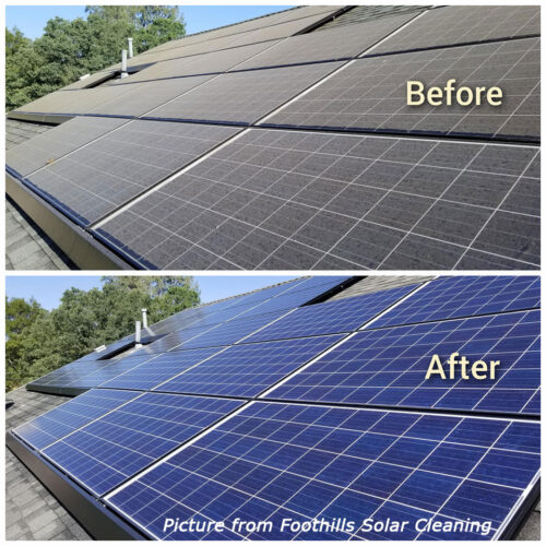 foothills solar cleaning panel cleaning grass valley