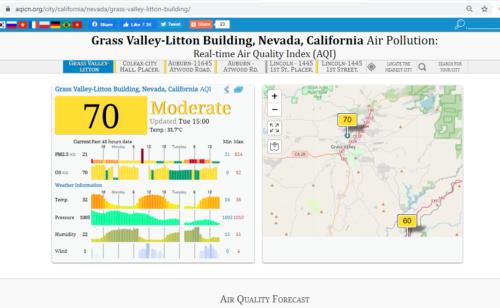 aqi cn air quality in grass valley ca