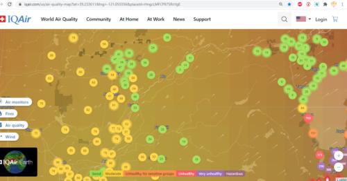 air iq map air quality grass valley