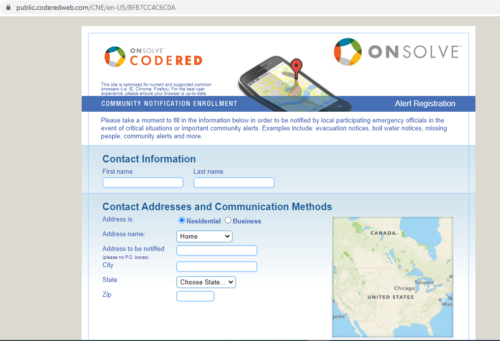 code red signup for text alerts