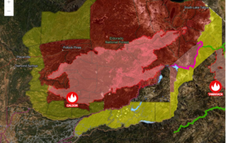 california fire map created with arcgis and yubanet